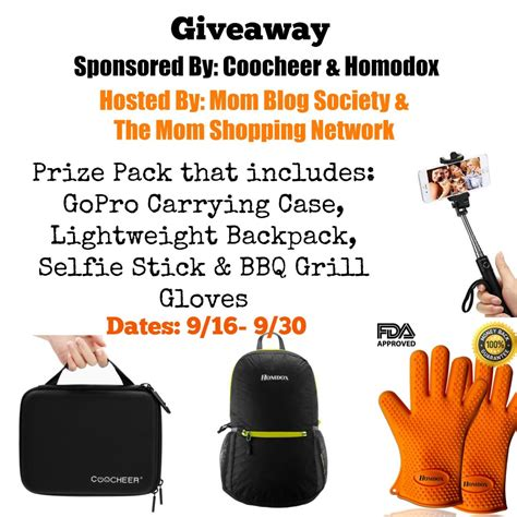 Gopro Giveaway Odds - coocheer homodox outdoor accessories prize pack giveaway mom blog society