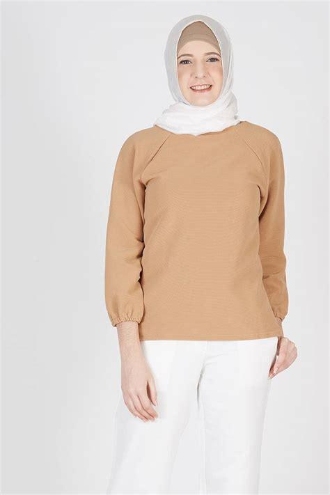 Atasan Havva Aino Top Brown sell jaeda top brown tops hijabenka