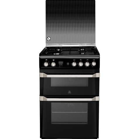 Oven Gas Ukuran 60 Cm indesit id60g2k 60cm freestanding oven gas cooker with 4 burners in black ebay