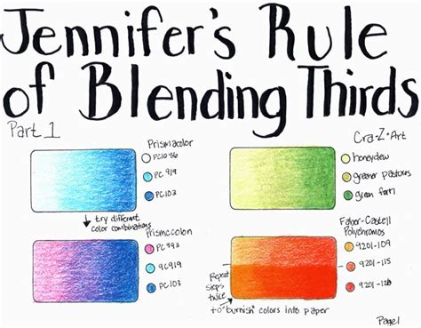 how to color with colored pencils s rule of blending thirds how to blend colored