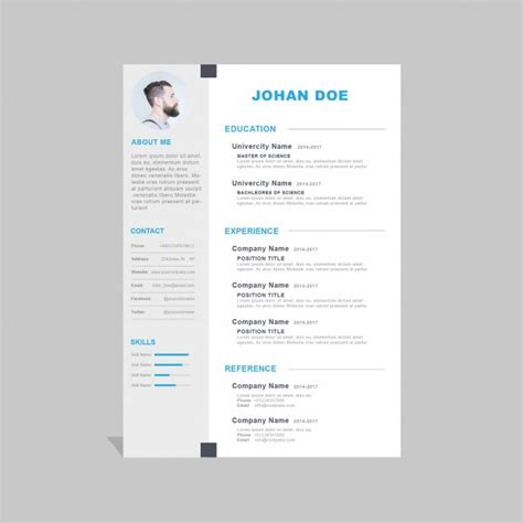Free Cv by Corporate Curriculum Vitae Template Psd File Free