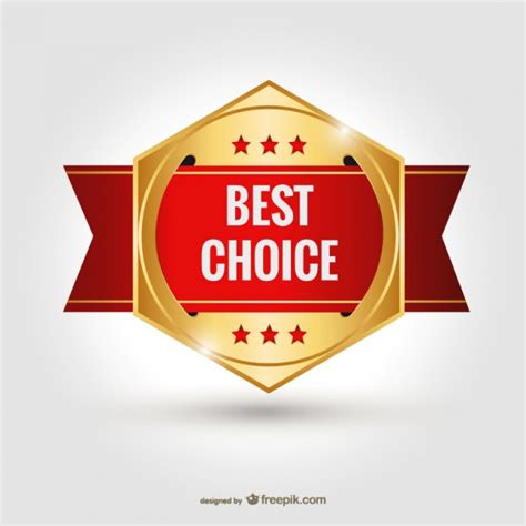 best choice best choice badge vector vector free
