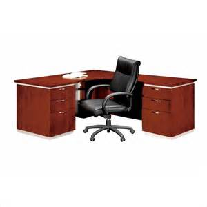 Right L Shaped Desk Dmi Pimlico Veneer Executive 66 In Right L Shaped Desk In Bronze Cherry Assembled 7024 27