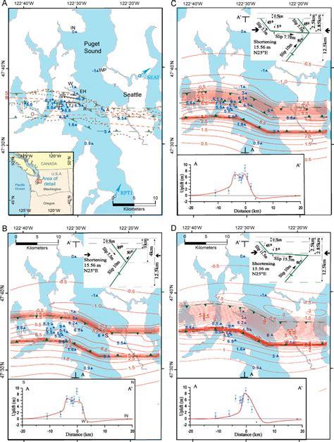 seattle fault map cascadia hazards institute