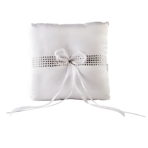 ring pillow celebrate it occasions ring bearer pillow white with