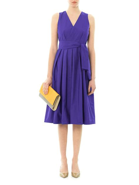lyst max mara letizia dress in blue