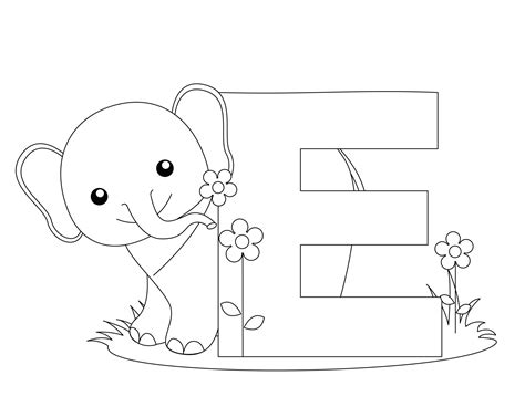 e coloring pages preschool preschool worksheets to print animal alphabet letter e