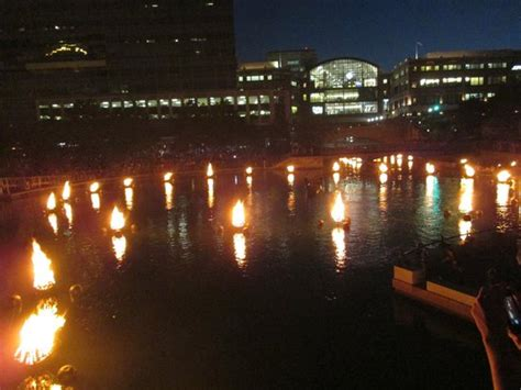 boat basin of waterplace park waterfire basin with mall in background picture of