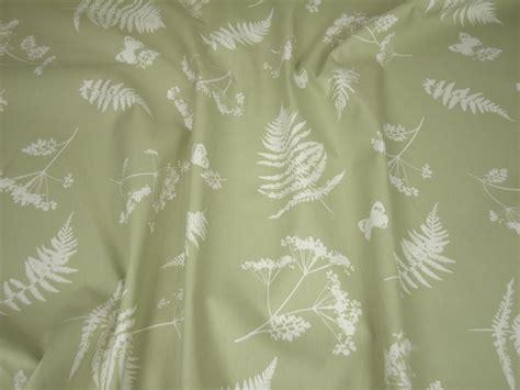 green curtain fabric uk clarke clarke moorland green cotton curtain fabric