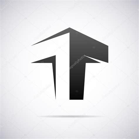 letter template design vector vector logo for letter t design template stock vector