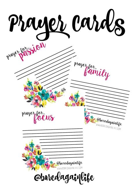 Fervent Prayer Cards Diy Printables Pinterest Fervent Prayer Prayer Cards And Prayers Free Prayer Card Template