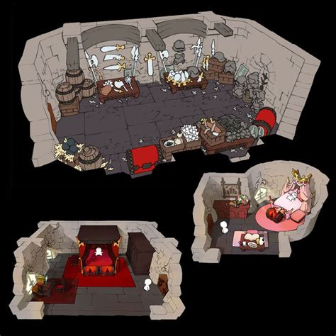 the 4 heroes of light horun castle rooms characters the