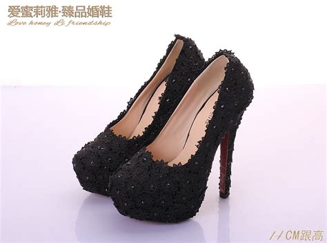 platform high heel black lace prom shoes 2017 prom heels