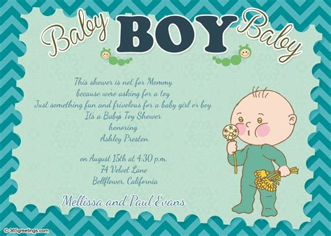 Baby Shower Wording Boy by Baby Shower Invitation Wording For Boy 365greetings