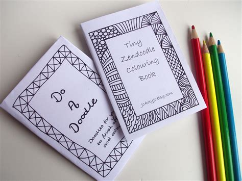 printable zines 2 mini zines printable zentangle inspired do a doodle and