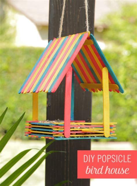 the 25 best popsicle stick birdhouse ideas on pinterest