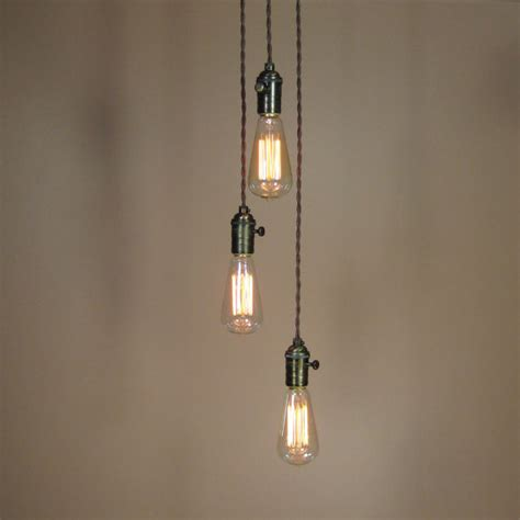 Edison Bulb Pendant Lights Reserved For Simon Chandelier Lighting Cascading Pendant Lights With Edison Light Bulbs