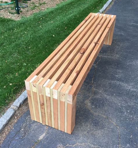 2x4 benches 2x4 bench from scraps wood slat backyard tutorials