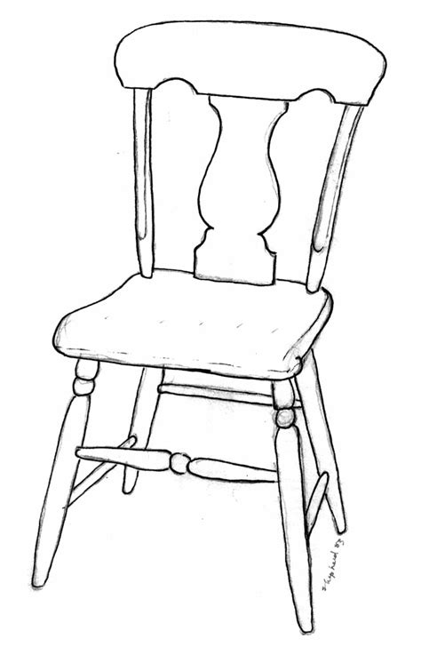 How To Draw A Armchair by Chairs