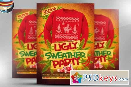 dafont ugly sweater ugly sweater flyer template 2 464741 187 free download