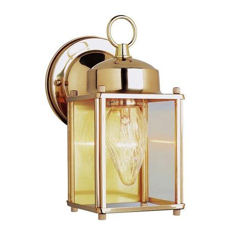 Antique Brass Outdoor Lighting Transglobe Lighting Outdoor 1 Light Wall Lantern In Antique Brass L Brilliant Source Lighting
