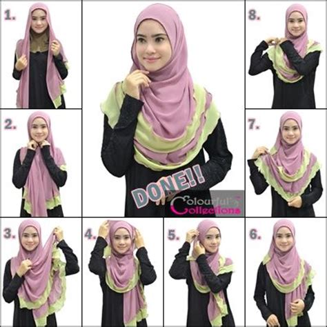 tutorial hijab bella colourful collections tudung syria shawls inner