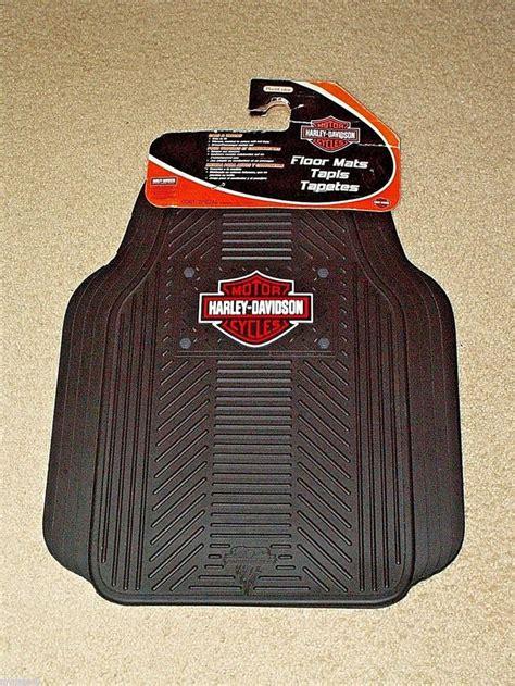 harley davidson rubber sts harley davidson floor mats rubber set 2 new 2004