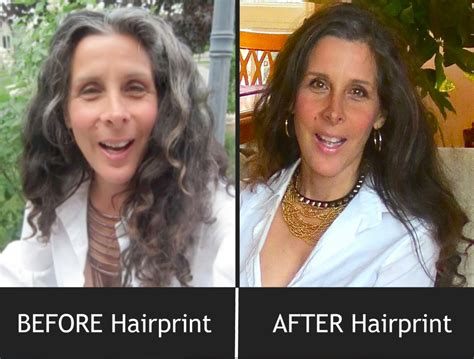 grey hair pics before and after before after hairprint hair pinterest before after