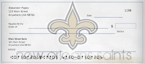 Background Check New Orleans Order New Orleans Saints Checks Football Checks