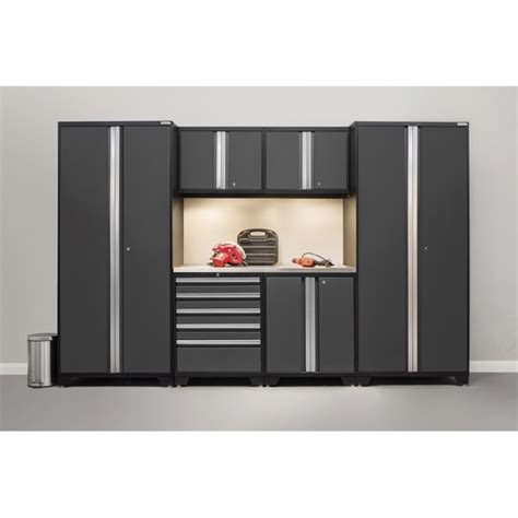 newage pro series 7 garage cabinet set in gray 52053