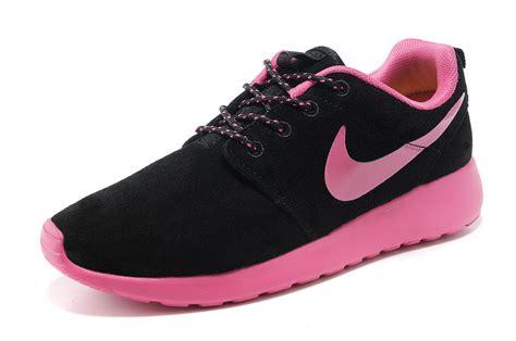 2015 style nike roshe run shoes black pink hj13609