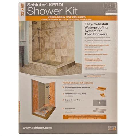Schluter Kerdi Shower Kit by Schluter Kerdi Centered Shower Kit 32x60 Floor Decor