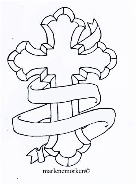 catholic cross tattoo design