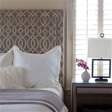trellis headboard gray bedroom contemporary bedroom material girls