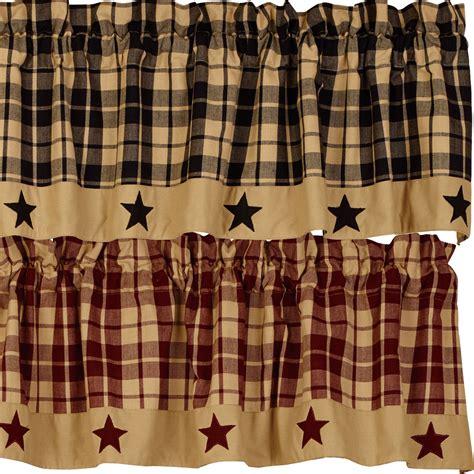 home decor curtains farmhouse lined valances primitive home decors
