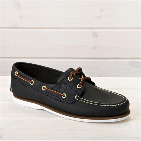timberland classic 2 eye boat shoe navy shoes from the