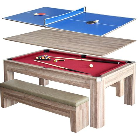 Hathaway Newport 7 Ft Pool Table Combo Set With Benches