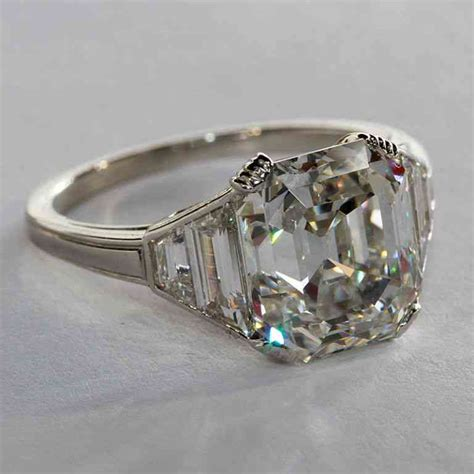 square emerald cut engagement rings wedding and bridal
