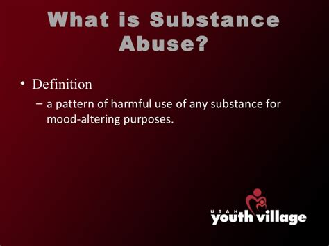 history and pattern of drug use substance abuse and dependency issues pp