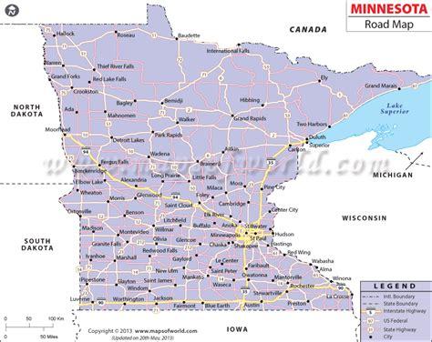 highway map of minnesota road map