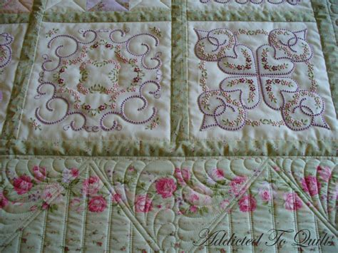 Machine Embroidery Quilt Patterns by Addicted To Quilts Candlewick Embroidery