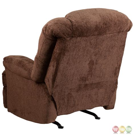 chenille rocker recliner contemporary hillel chocolate chenille rocker recliner
