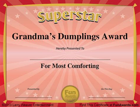 templates for office awards funny award certificates 101 funny certificates to give