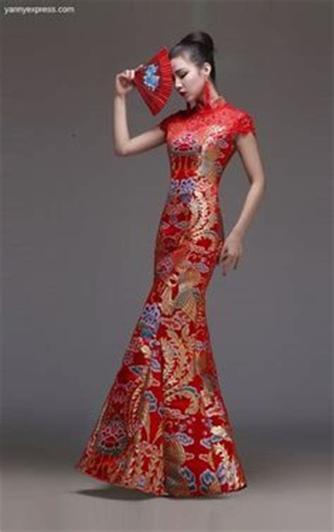 Mutan Cheongsam Dress Cina Imlek Merah 1000 images about wedding qipao cheongsam bridal kwa qun couture evening dress on