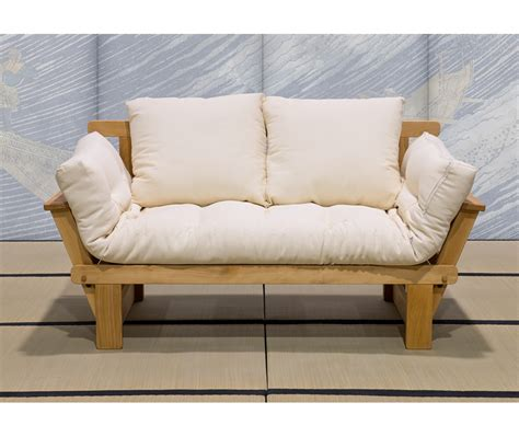 divano letto futon divano letto in legno artigianale con futon sesamo 2