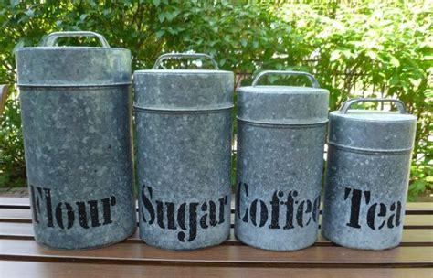farmhouse kitchen canisters vintage metal kitchen canisters vintage canister set galvanized aluminum vintage 1960s flour