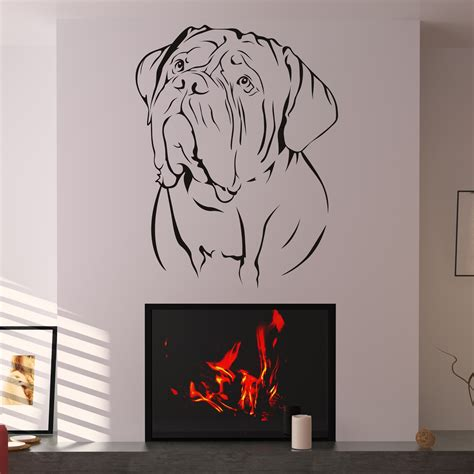 wall decals stickers de bordeaux dogs animal wall sticker wall decal