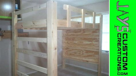 full size loft bed video   youtube
