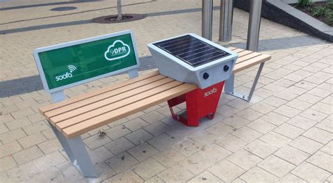 solar bench these solar powered dc benches provide free wi fi and can