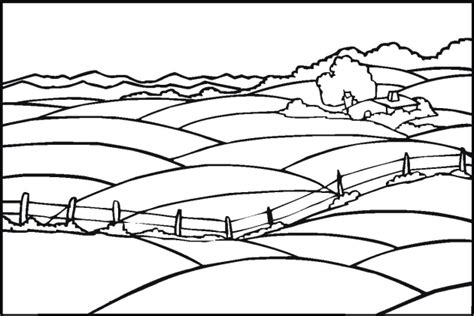 printable coloring pages landscapes free landscape coloring pages